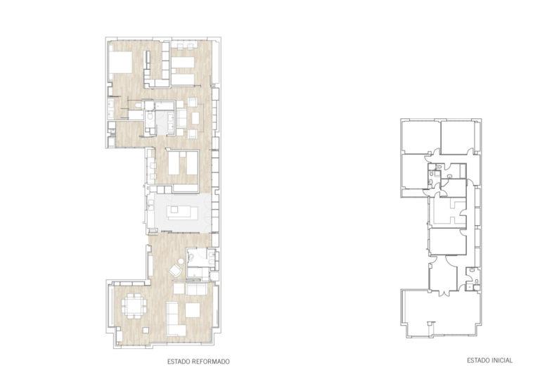 plano planta mas millet arquitectura interiorismo reforma piso vivienda moderna valencia