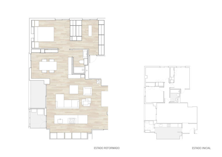 plano planta baja mas millet arquitectura interiorismo reforma piso vivienda moderna valencia