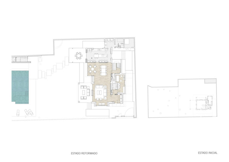 plano mas millet arquitectura interiorismo reforma integral chalet vivienda unifamiliar moderna valencia