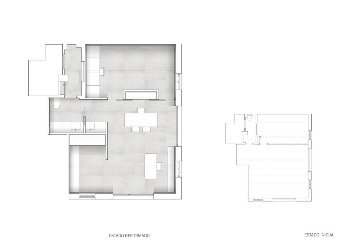 plano planta mas millet arquitectura interiorismo reforma despacho moderna valencia