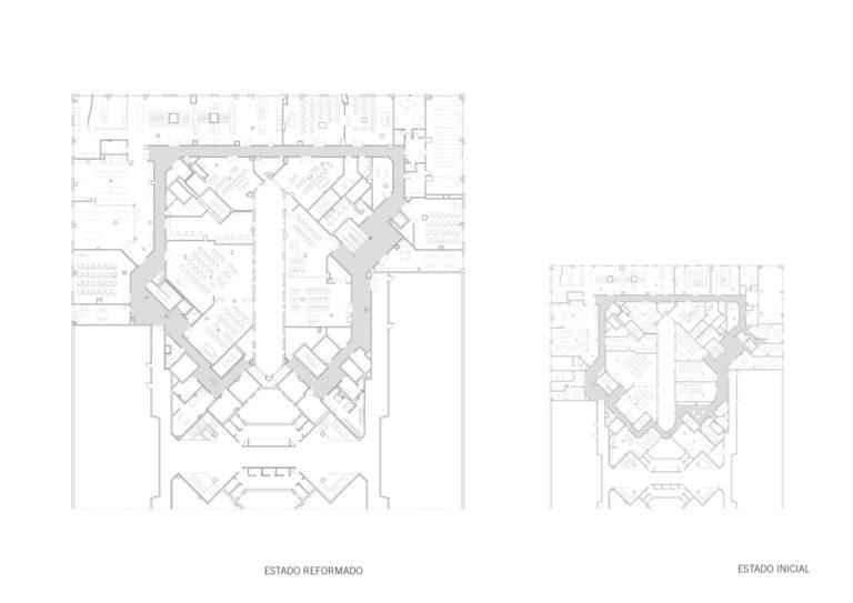 plano planta mas millet arquitectura interiorismo reforma espacio docente valencia