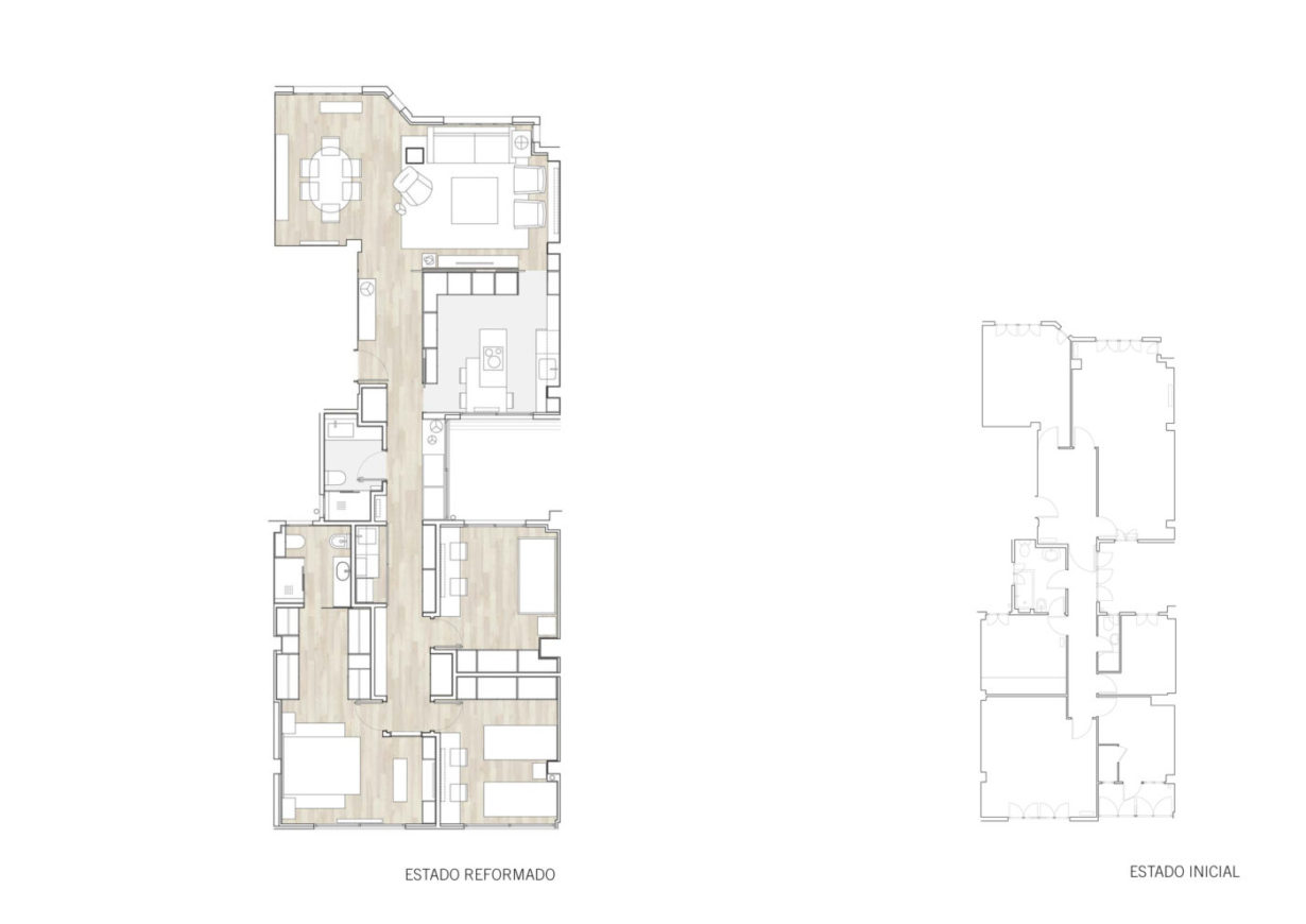 plano planta mas millet arquitectura interiorismo reforma piso vivienda unifamiliar moderna valencia