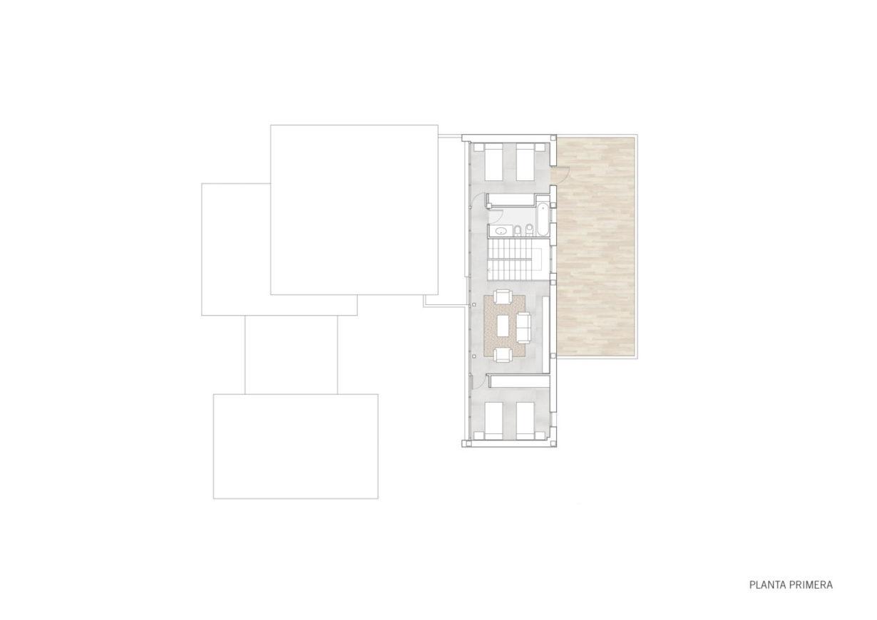 plano planta primera mas millet arquitectura interiorismo reforma chalet vivienda unifamiliar moderna valencia