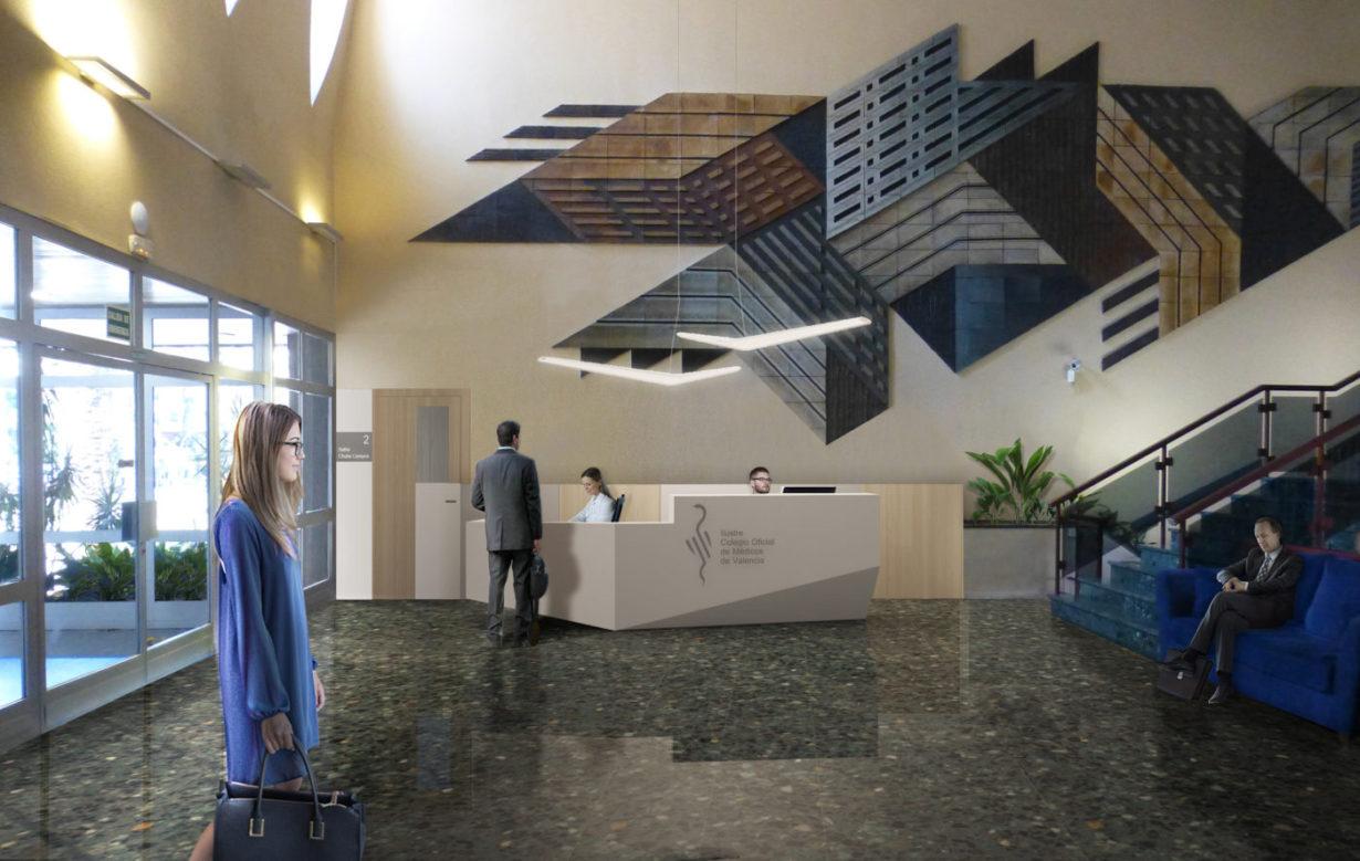 00. salon actos ilustre colegio medicos icomv icom valencia mas millet arquitectura interiorismo acceso conferencias