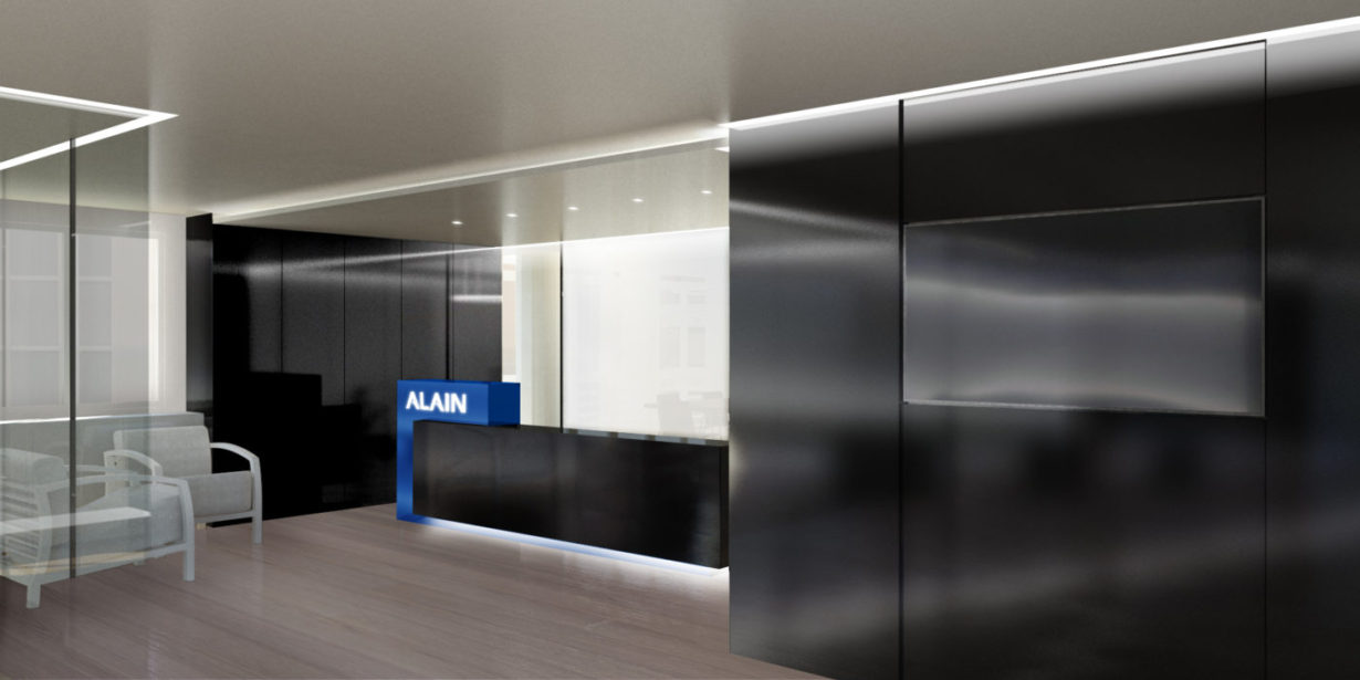 01 oficina grupo alain consultores inmobiliarios mas millet arquitectura interiorismo arquitecto valencia reforma despacho mostrador
