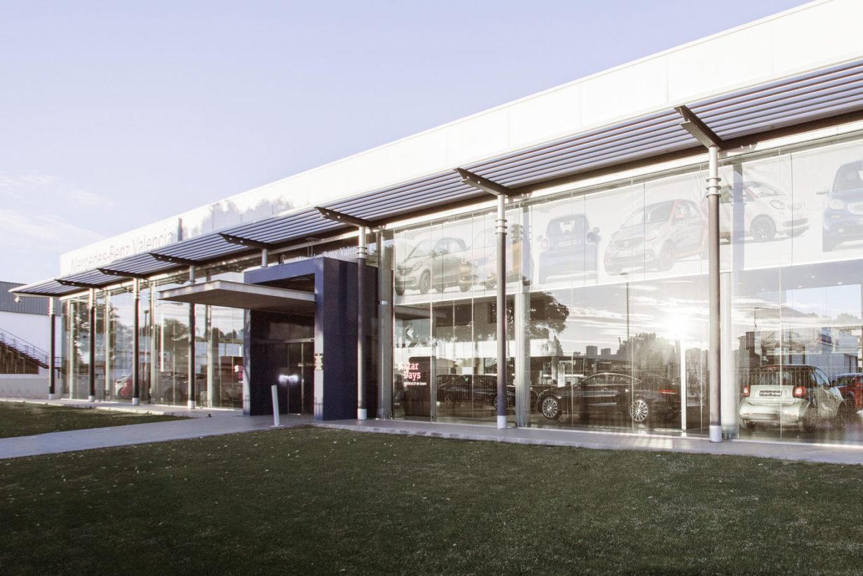 01e concesionario mercedes benz coches valencia mas millet arquitectura interiorismo arquitecto comercial