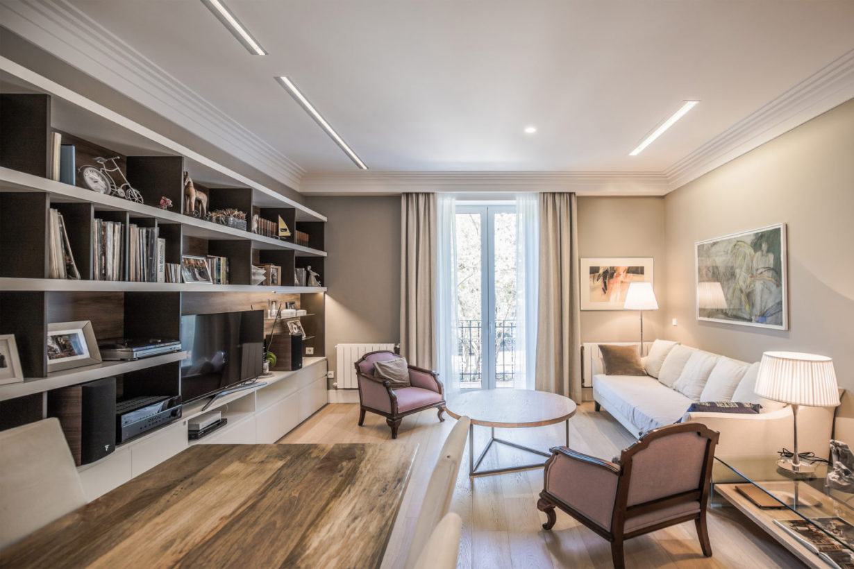 03 mas millet arquitecto arquitectura interiorismo reforma integral moderna piso valencia mobiliario salon cocina