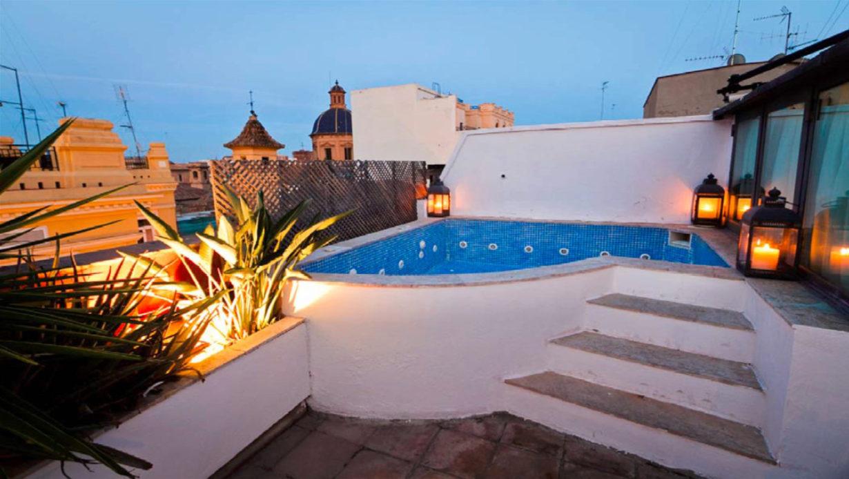 atico duplex ciutat vella mas millet arquitectura interiorismo arquitecto valencia reforma terraza diseño piscina jacuzzi vistas
