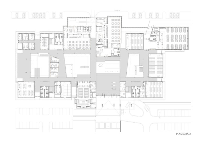 plano planta baja edificio universitario en africa