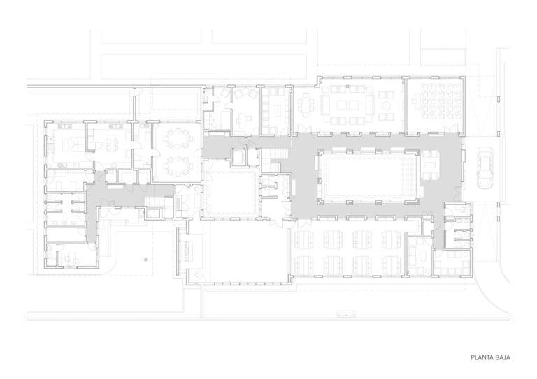 plano planta baja mas millet arquitectura interiorismo nueva obra plano edificio universitario en africa
