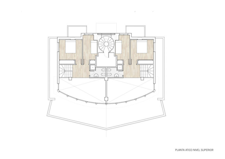plano planta mas millet arquitectura interiorismo vivienda moderna obra nueva gandia valencia