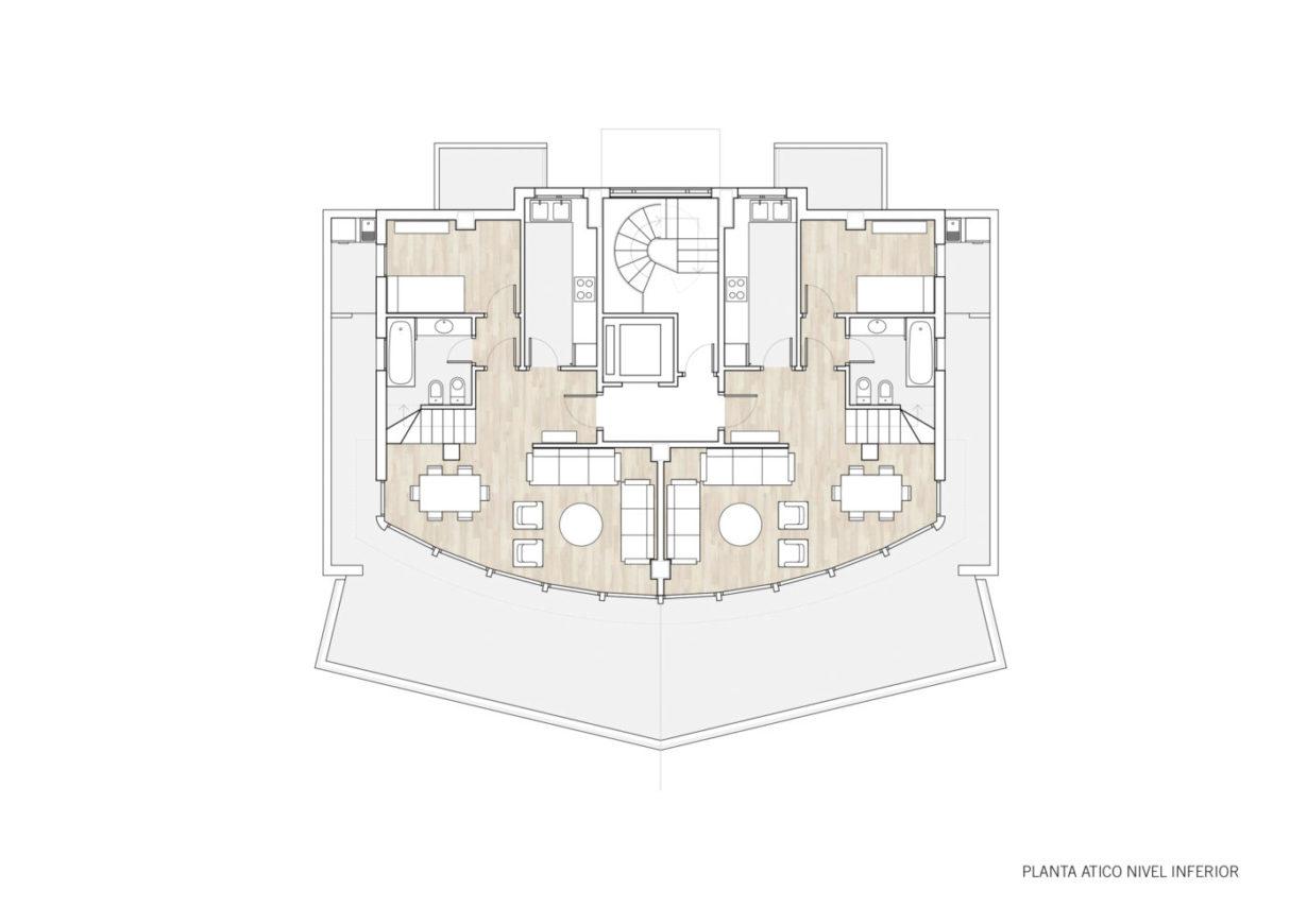 plano planta nivel inferior mas millet arquitectura interiorismo vivienda moderna obra nueva gandia valencia