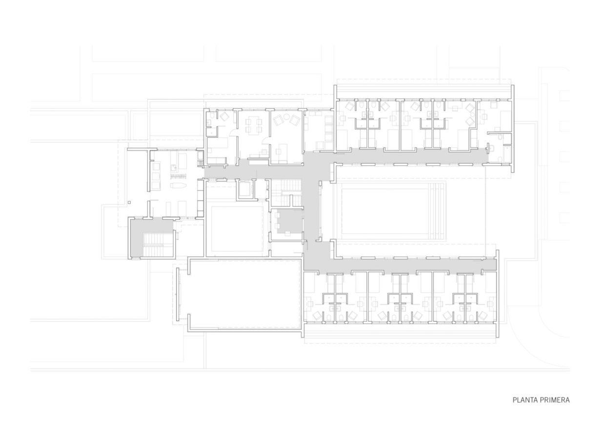 plano planta primera mas millet arquitectura interiorismo nueva obra plano edificio universitario en africa
