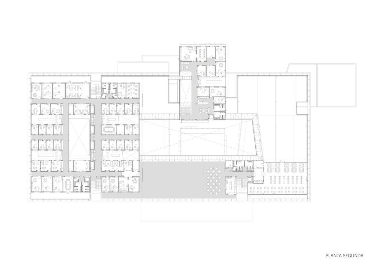plano planta segunda edificio universitario en africa