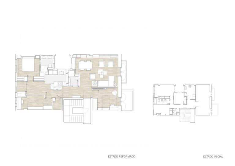 planos mas millet arquitectura interiorismo reforma piso vivienda moderna valencia
