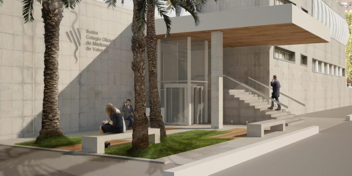 00 mas millet arquitecturan interirorismo arquitecto valencia acceso colegio medicos adaptado minusvalidos discapacitados jardin