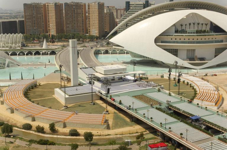 01 mas millet arquitectura interiorismo escenario encuentro mundial familias religioso arquitecto valencia emf