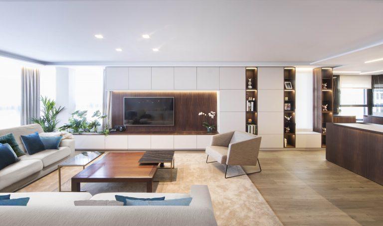02u mas millet arquitectura interiorismo reforma integral valencia madrid hogar salon comedor diseño actual campanar mueble tv