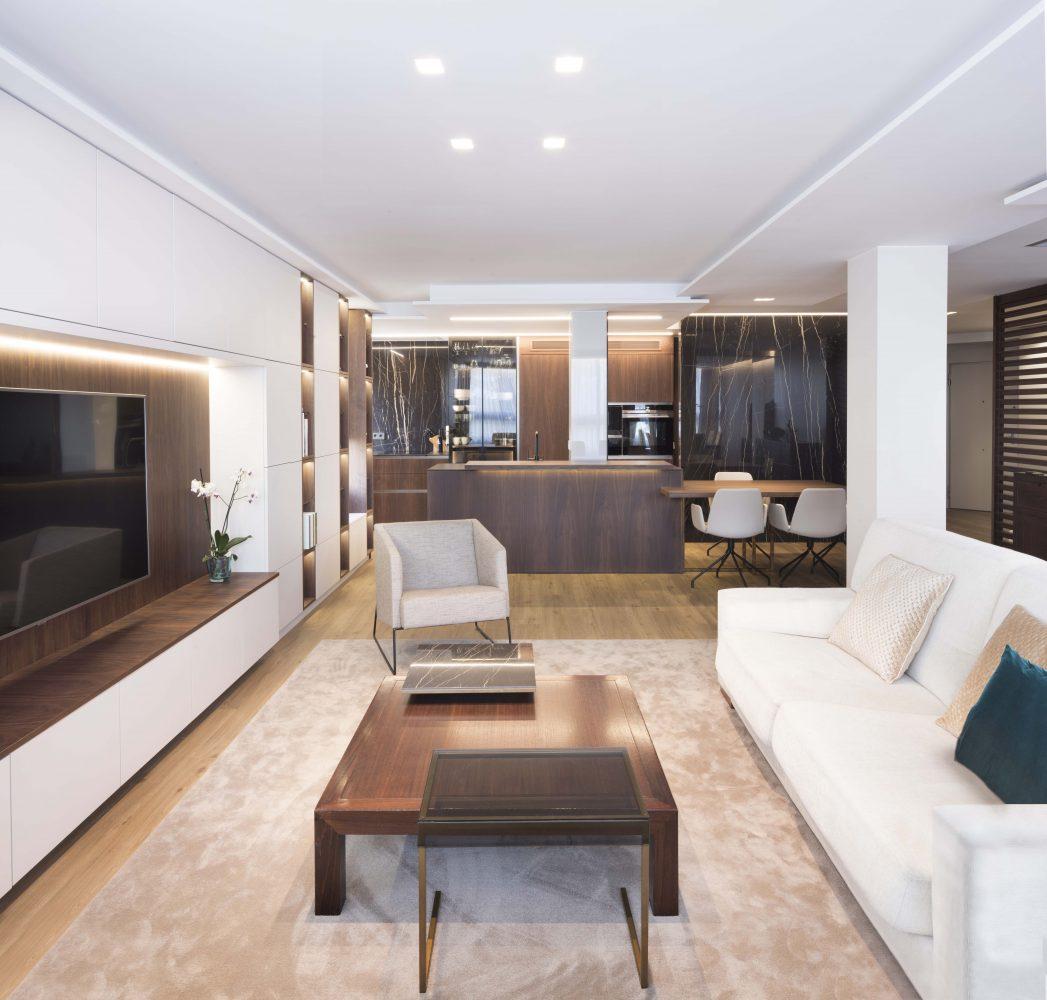 03 mas millet arquitectura interiorismo reforma integral valencia madrid hogar salon comedor diseño actual campanar