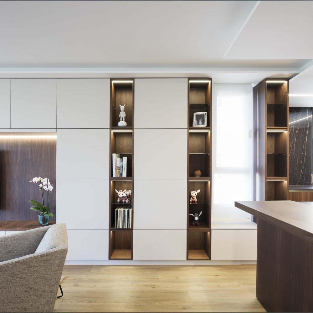 04f mas millet arquitectura interiorismo reforma integral valencia madrid hogar salon comedor diseño actual campanar estanteria