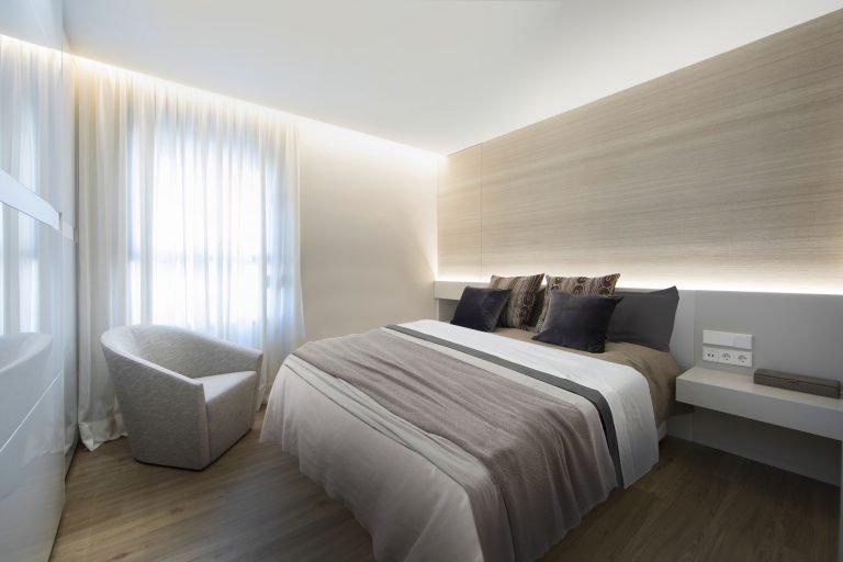 19f dormitorio cama mas millet arquitectura interiorismo reforma integral valencia madrid hogar salon comedor diseño actual campanar