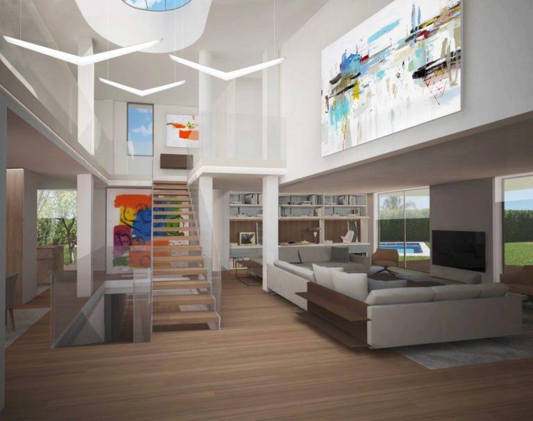 mas millet arquitectura interiorismo obra nueva chalet vivienda unifamiliar moderna casa en monasterios valencia diseño urbanizacion arquitecto valencia mas millet arquitectos