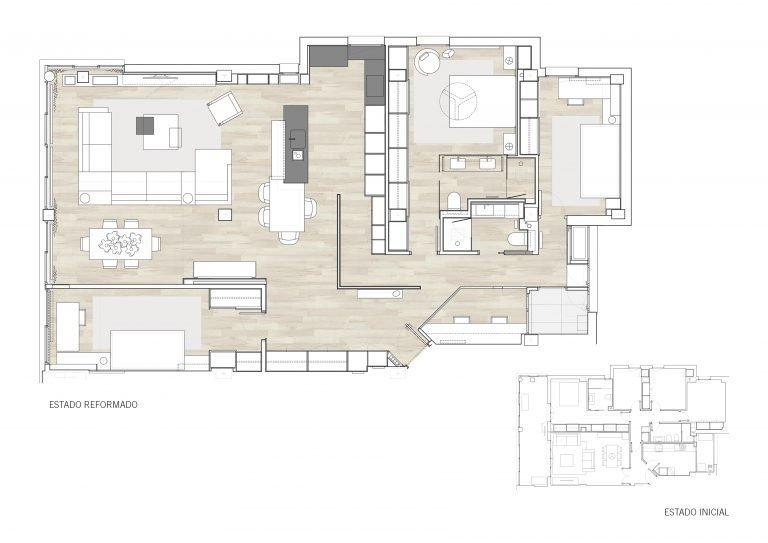 plano mas millet planta distribucion refoma integral llave en mano arquitectura interiorismo