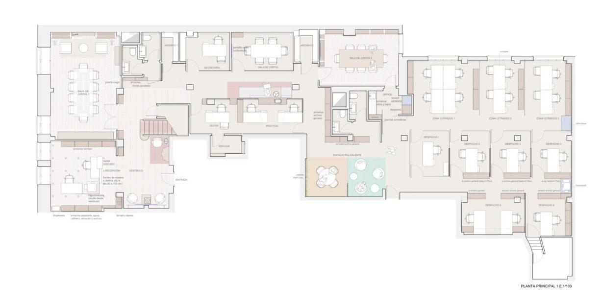 mas millet arquitectura interiorismo obra reforma bufete despacho abogados moderno madrid diseño arquitecto