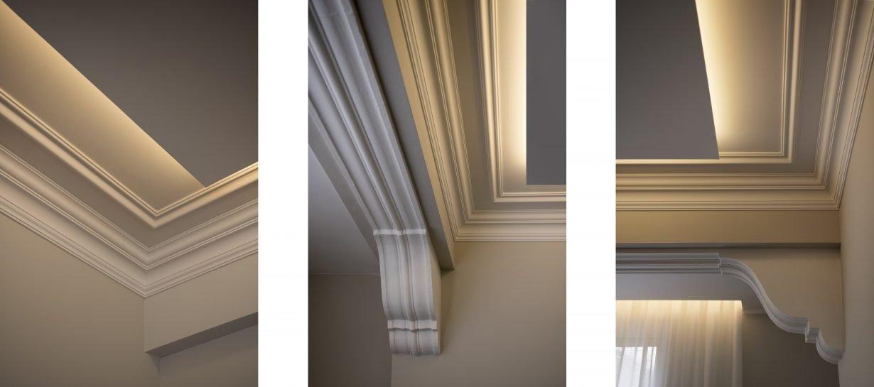 arquitectura interiorismo reforma valencia casa quart salon comedor arte molduras orac decor