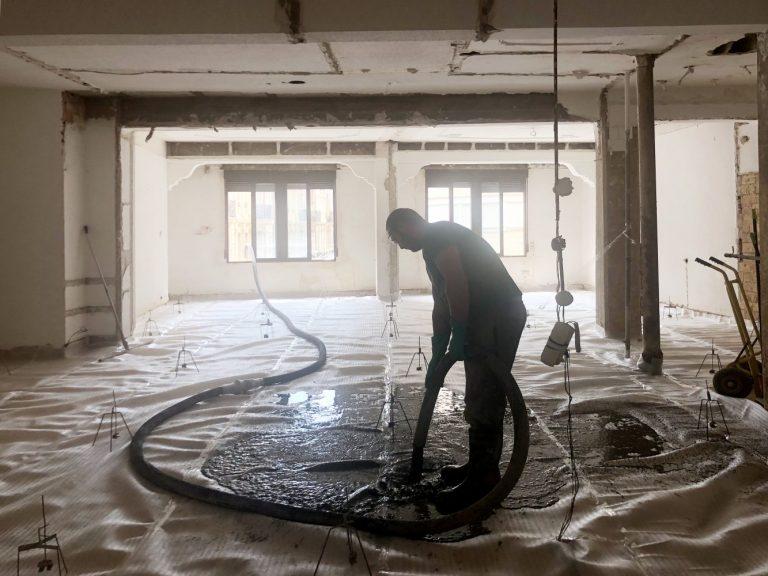 reforma proceso casa quart valencia nivelacion pavimento mas millet arquitectos arquitectura 02