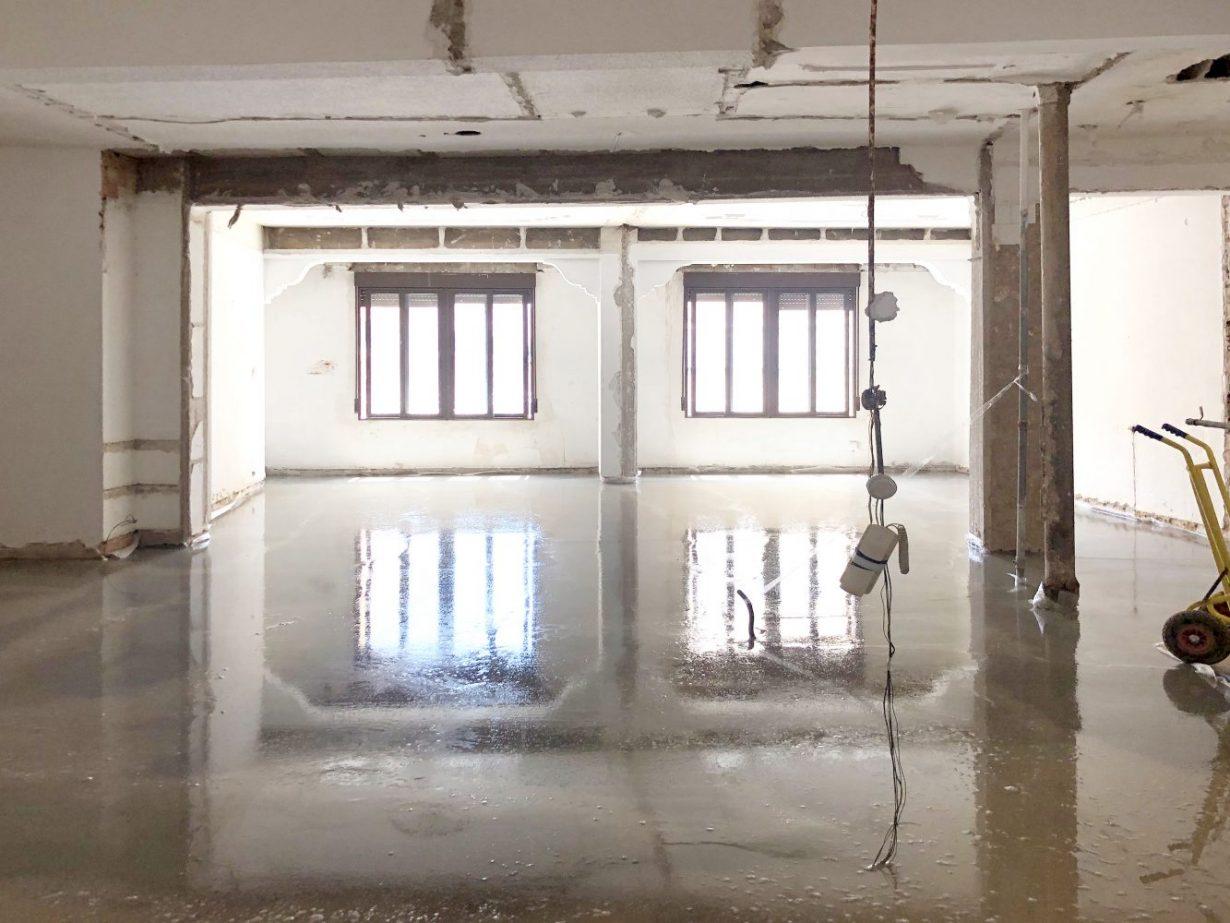 reforma proceso casa quart valencia nivelacion pavimento mas millet arquitectos arquitectura