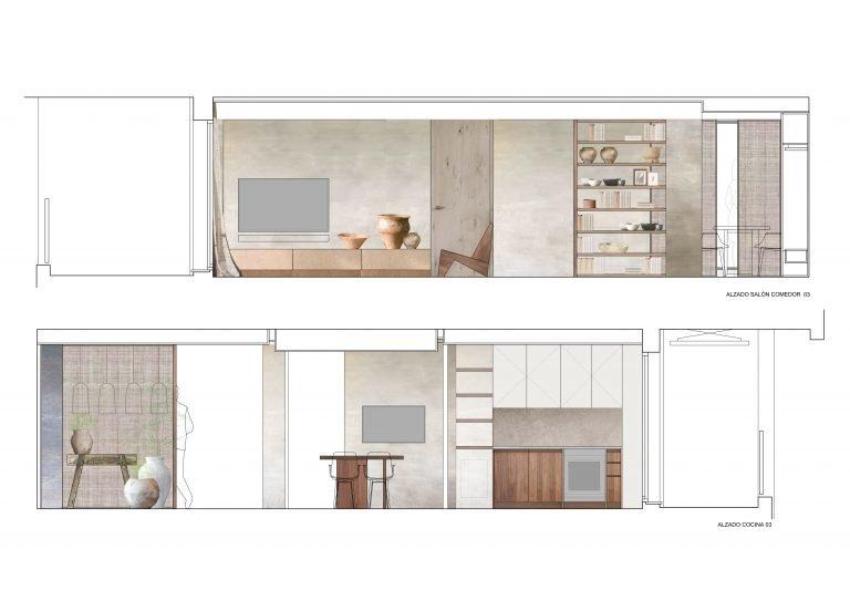 Reforma-casa-en-Patacona-alzados-salon-y-cocina