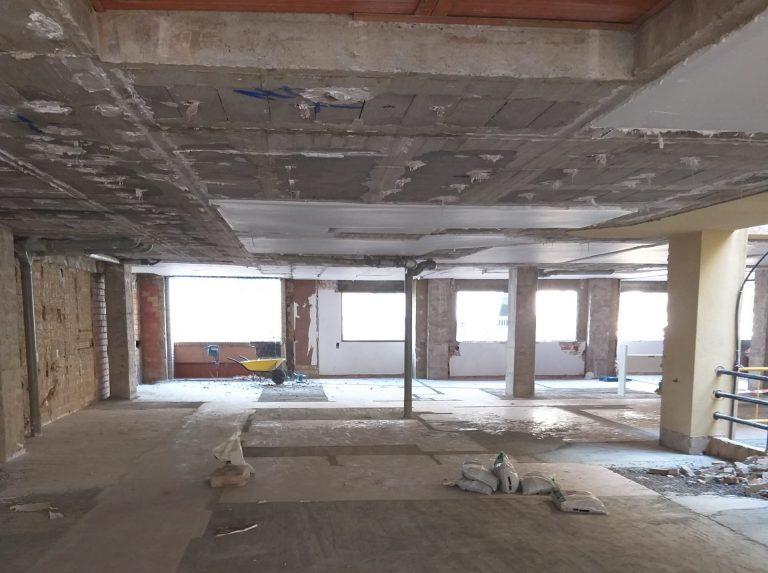 Obras demoliciones Colegio Mayor Saomar 2