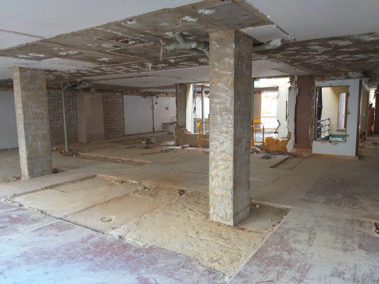 Obras demoliciones Colegio Mayor Saomar 1