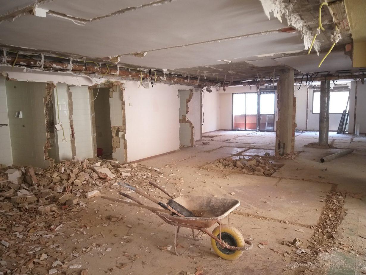 Obras demoliciones Colegio Mayor Saomar 4