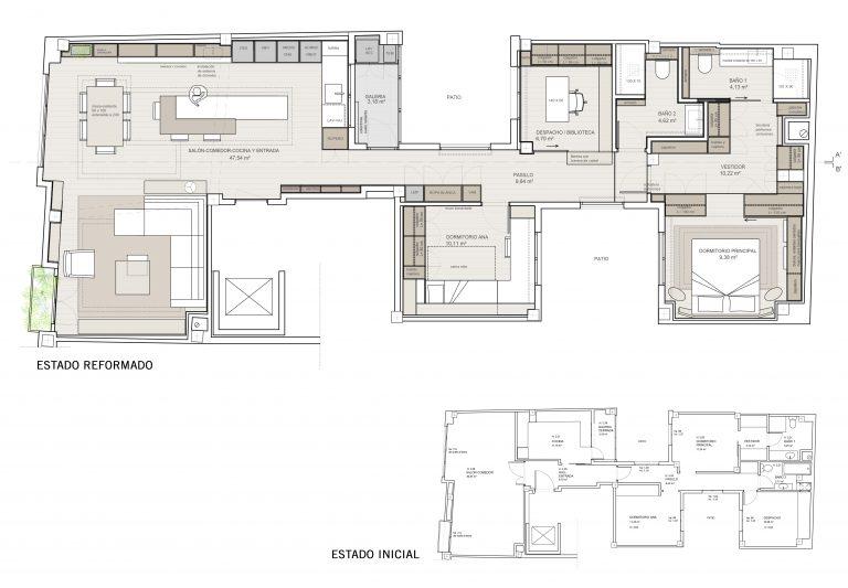 Casa en Carcaixent Valencia en construcción planos