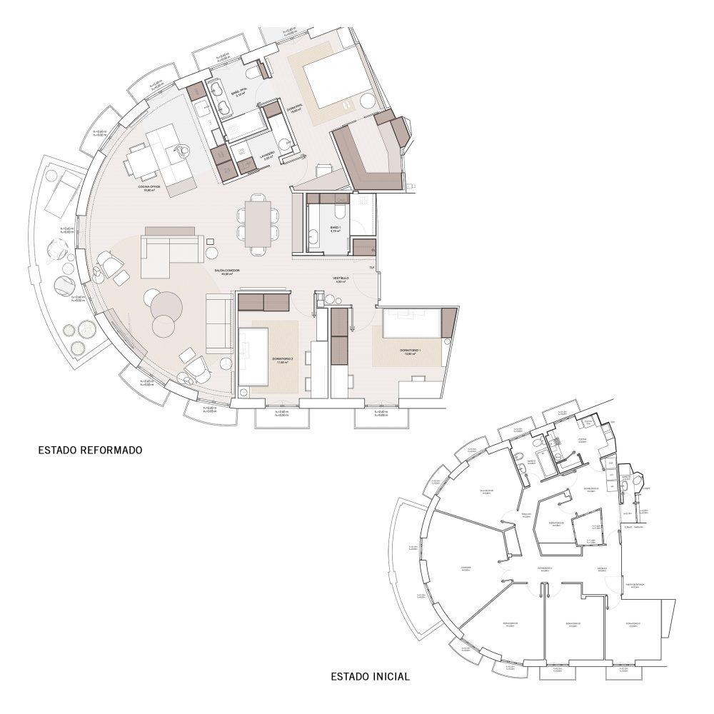 arquitectos valencia rehabilitan casa en mercado central plano